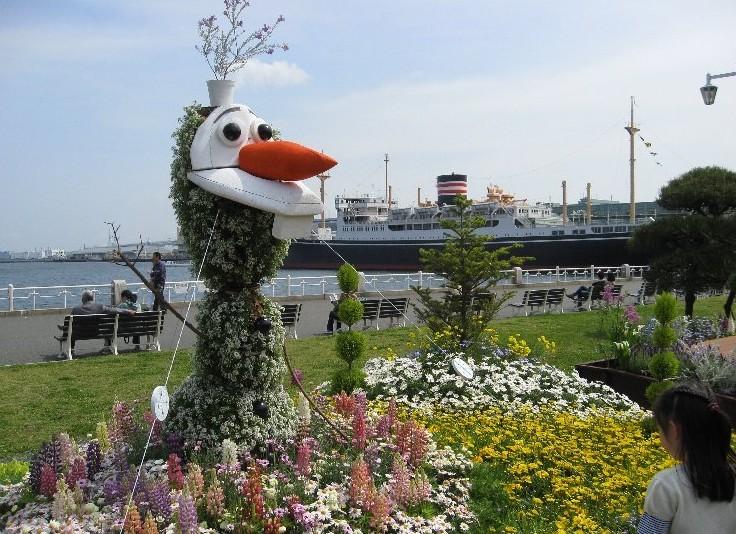 毎年恒例・横浜 山下公園のイベント:「花壇展~スプリングフェア」